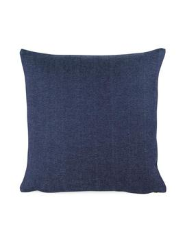 blue-chevron-pillow-cover,-18x18,-20x20,-22x22,-blue-euro-sham-or-lumbar,-blue-pillowcase,-throw-accent-pillow,-woven-weave,-chey-blue by etsy