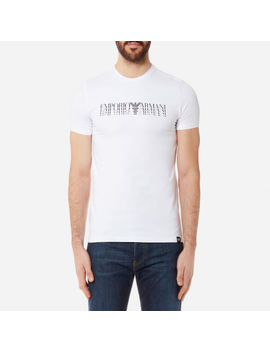 Emporio Armani Men's Shadow Logo T Shirt   Bianco Ottico by Emporio Armani