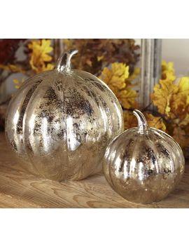 Antique Mercury Glass Pumpkins by Pottery Barn