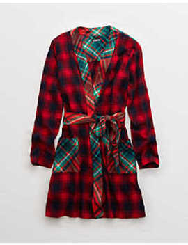 Aerie Flannel Robe by American Eagle Outfitters