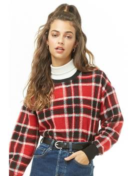 Plaid Print Sweater by Forever 21