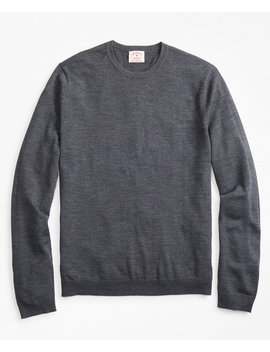 Merino Wool Crewneck Sweater by Brooks Brothers