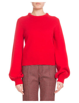 Iconic Cashmere Bubble Sleeve Sweater by Chloe