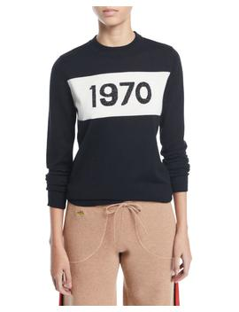 1970 Sparkle Graphic Wool Sweater by Bella Freud