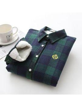 Kawaii Fairyland   Fleece Lined Gingham Long Sleeve Shirt by Kawaii Fairyland