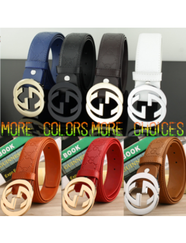 Hot Sell Classic Style Letter Double G Men's/Women's Leather Belt by Unbranded