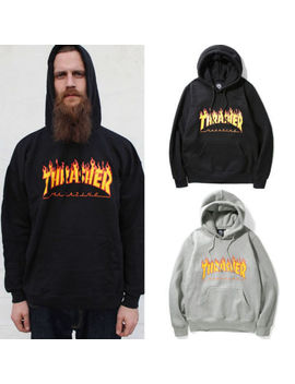 Men Women Hoodie Sweater Hip Hop Skateboard Thrasher Sweatshirts Pullover Coats by Iconhunt