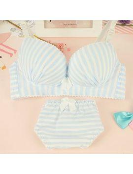 Heart2 Heart   Set: Striped Bra + Panty by Heart2 Heart
