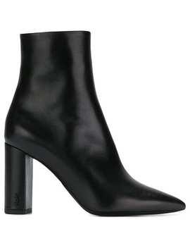 Saint Laurenthigh Heeled Ankle Bootshome Women Saint Laurent Shoes Boots by Saint Laurent