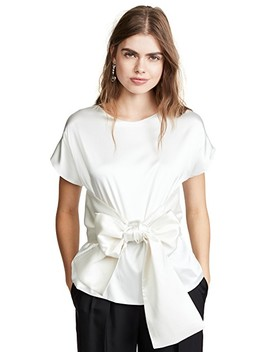 Lido Top With Ranglas Sleeves And Bow Belt by Leal Daccarett