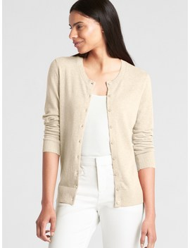 Slim Crewneck Cardigan Sweater by Gap