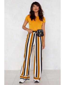 Stripe Play Wide Leg Pants by Nasty Gal