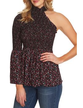 Victoria Smocked One Shoulder Blouse by Cece
