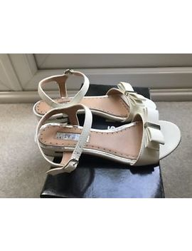 Miss Kg Ruby White Flat Sandals With Bow by Ebay Seller