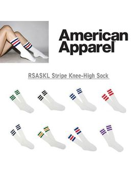 American Apparel Knee High Socks 3 Stripes Made In Usa by American Apparel