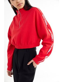 Iets Frans … Half Zip Cropped Sweatshirt by Iets Frans...