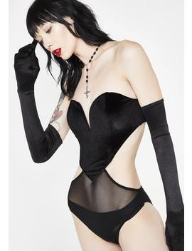 Wicked Meltin' Hearts Velvet Bodysuit by Sugar Thrillz