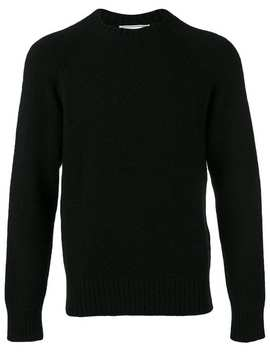 Ami Alexandre Mattiussiraglan Sleeves Crewneck Sweaterhome Men Ami Alexandre Mattiussi Clothing Knitted Sweaterschino Trousersraglan Sleeves Crewneck Sweater by Ami Alexandre Mattiussi