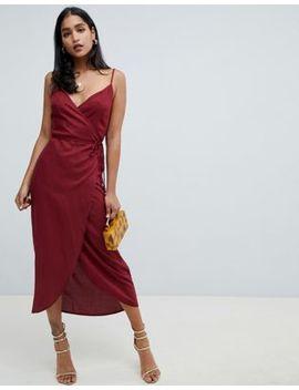Asos Design Cami Wrap Maxi Dress by Asos Design