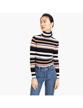 Turtleneck Sweater In Striped Everyday Cashmere by J.Crew
