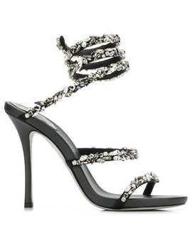 René Caovillaembellished Wraparound Sandalshome Women René Caovilla Shoes Sandals by René Caovilla