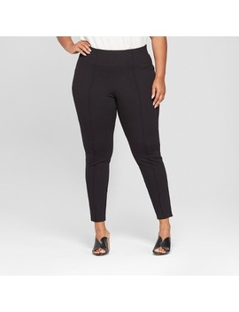 Women's Plus Size Comfort Waistband Pull On Ponte Pants   Ava & Viv™ by Ava & Viv™