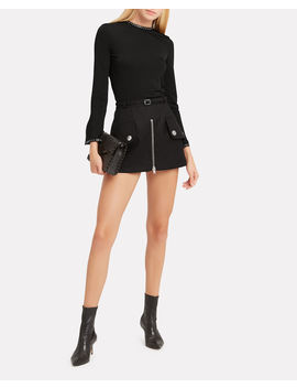 Studded Jersey Knit Top by Helmut Lang
