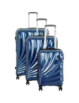 Sea Blue Hard Shell Spinner Suitcases by It Luggage