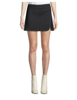 Studded Side Split Mini Skirt by Helmut Lang