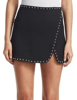 studded-overlap-mini-skirt by helmut-lang