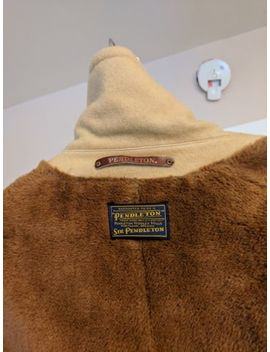 Vintage Pendleton Tan Camel Car Coat Overcoat Men's 44 Xl by Pendleton