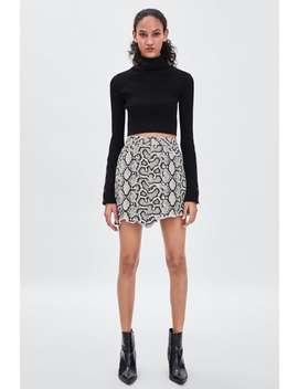 Snake Print Skirt  Skirtstrf by Zara