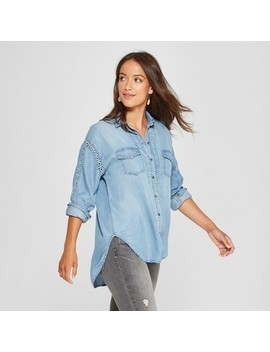 Women's Long Sleeve Chambray Button Down   Knox Rose™ Indigo by Knox Rose™