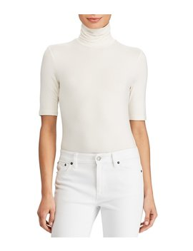 Knit Jersey Turtleneck Top by Lauren Ralph Lauren