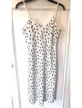M&S X Alexa Chung Floral Print Strappy White Dress Size 10 by Ebay Seller