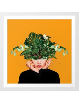 Lady Flowers || Art Print by