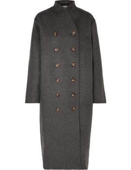 Bergerac Oversized Double Breasted Wool Blend Felt Coat by Totême