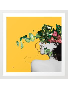 Lady Flowers Art Print by
