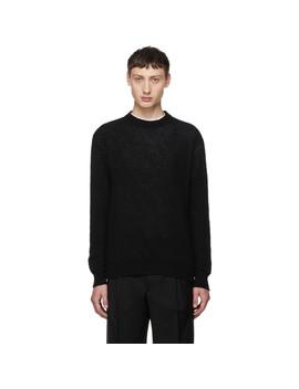 Black & Grey Cashmere Sweater by Prada