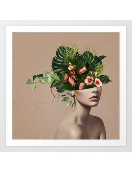 Lady Flowers Llll Art Print by