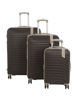 Brown Hardshell Imperative Suitcases by It Luggage