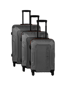 Charcoal Grey Hardshell Spinner Suitcases by Timberland