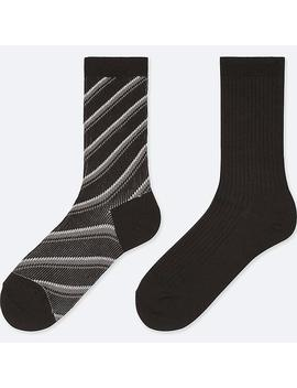 Women Heattech Striped Socks (2 Pairs) by Uniqlo