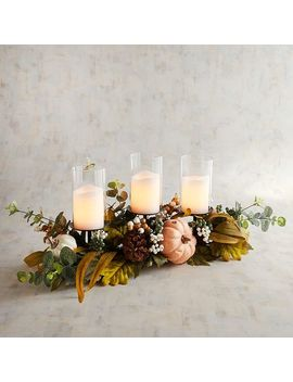 Floral Centerpiece Candle Holder by Grateful Harvest Collection