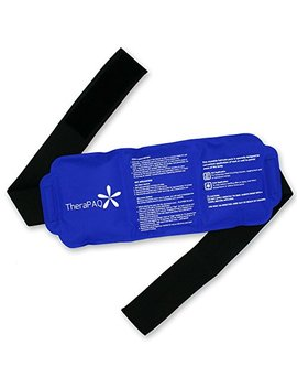 "Reusable Ice Pack With Strap By Thera Paq   Soft & Flexible Gel Pack For Hot & Cold Compress   Best As Heat Pad Or Cold Wrap For Back, Knee, Waist, Shoulder, Ankle, Calves And Hip (Large Pack:14"" X 6"") by Thera Paq"