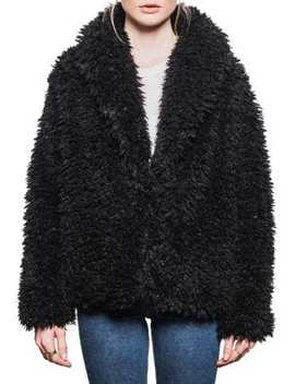Emile Faux Fur Coat by Line
