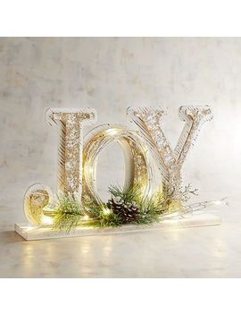 Led Light Up Joy Decor by Pier1 Imports