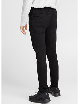 Black Stretch Jean Gangnam Cut Super Skinny by Djab