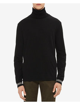 Men's Classic Fit Tipped Cuff Turtleneck Shirt by Calvin Klein