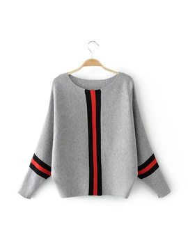 Casual Long Sleeve Womens Sweaters 2018 Winter Autumn Knitted Sweater Women Pullover Women Vertical Stripe Jumper Pull Femme by Ali Express